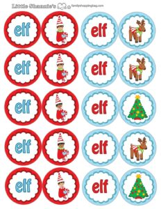 elf cupcake toppers