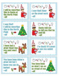 elf message cards