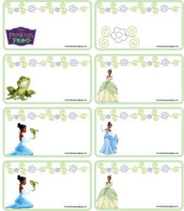Gift Tags Princess Frog