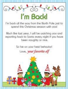 im back sign elf