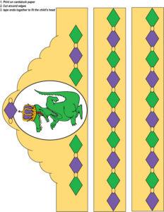 Mardi Gras Crown Gator