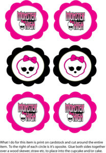 Monster High Cupcake Top