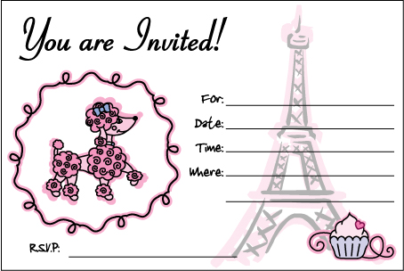 Pink Poodle Invite