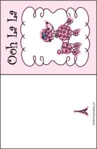 Pink Poodle Card
