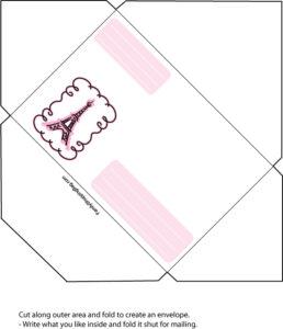 Pink Poodle Envelope