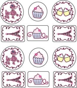 Poodle Paris Stickers