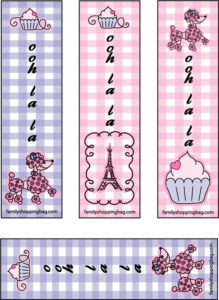 Pink Poodle Bookmarks