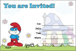 Smurfs Invitation