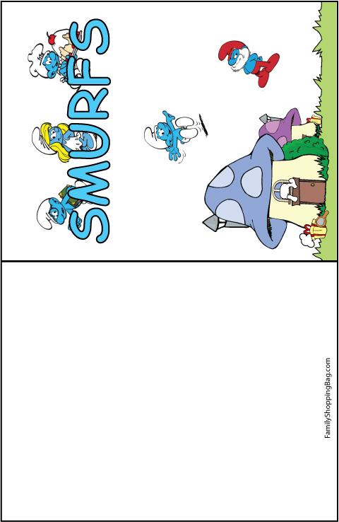 Smurfs Card