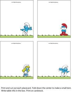 Smurfs Place Cards