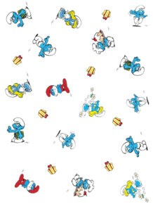 Smurfs Wrapping Paper