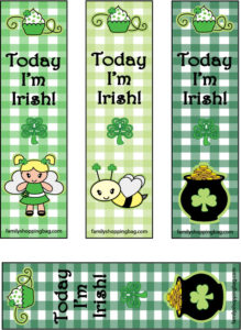 St Pats Bookmarks