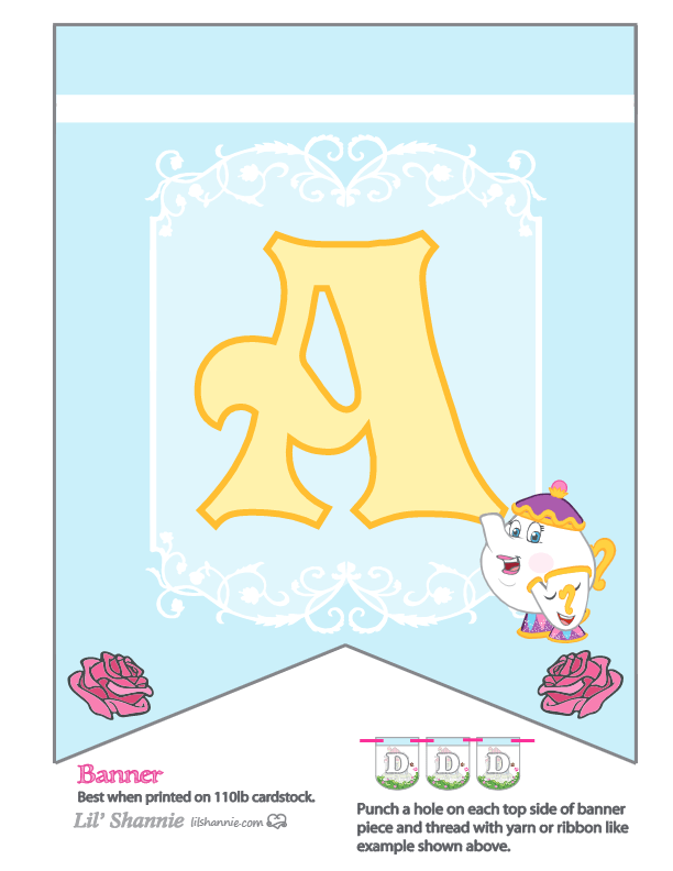 Beauty and the Beast Party Banner A