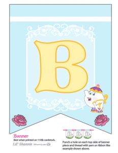 Beauty and the Beast Party Banner B