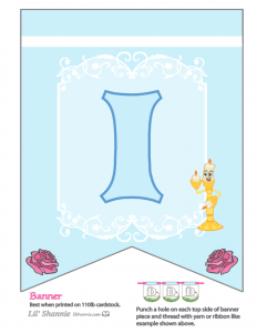 Beauty and the Beast Party Banner I