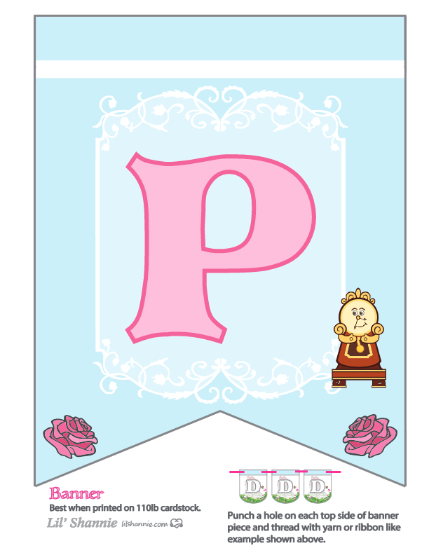 Beauty and the Beast Party Banner P