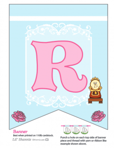 Beauty and the Beast Party Banner R