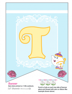 Beauty and the Beast Party Banner T