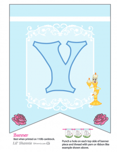 Beauty and the Beast Party Banner Y
