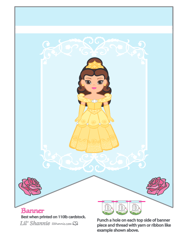 Beauty and the Beast Party Banner Belle