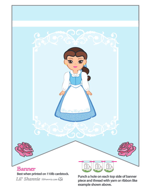 Beauty and the Beast Belle Banner