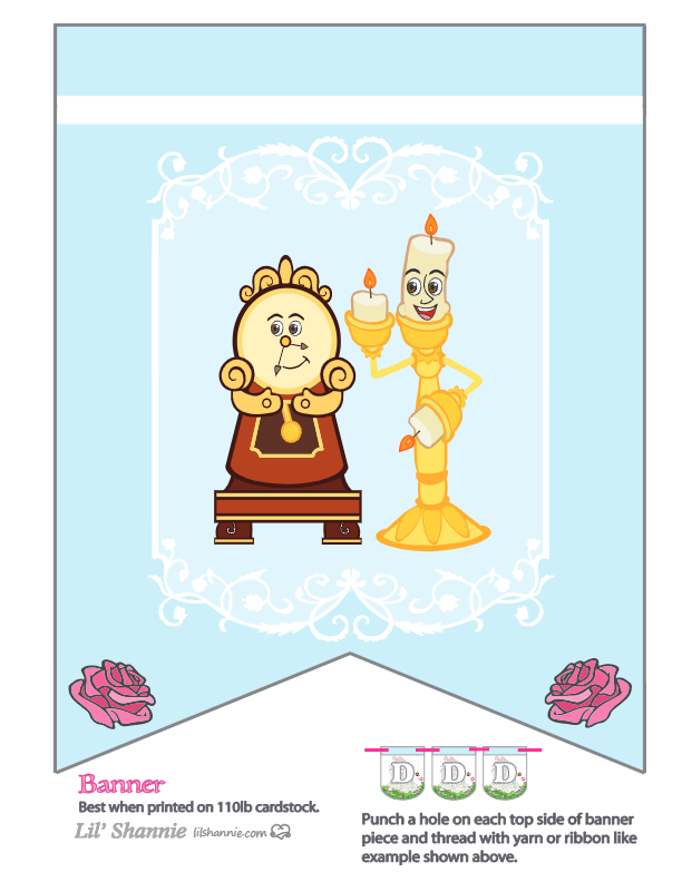 Beauty and the Beast Party Banner
