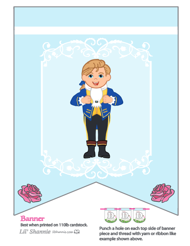 Beauty and the Beast Prince Party Banner