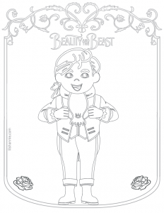Beauty and the Beast Prince Coloring Page