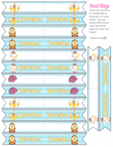 Beauty and the Beast Food Flags