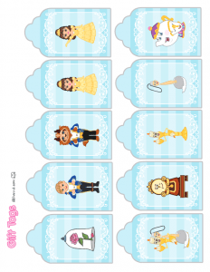 Beauty and the Beast Gift Tags