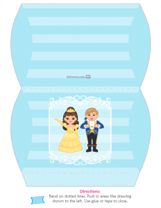 Beauty and the Beast Med Favor Box