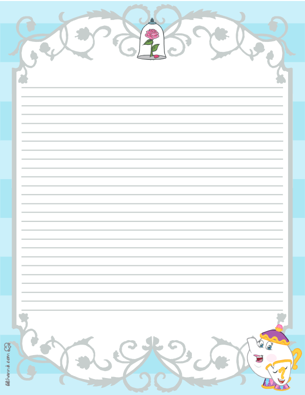 Beauty and the Beast Stationery