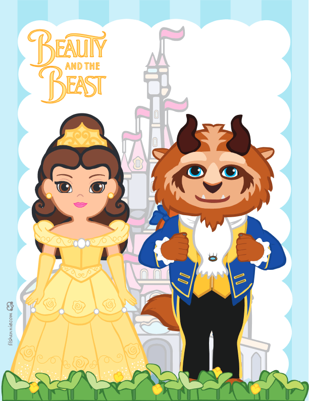 Beauty and the Beast Wall Picture