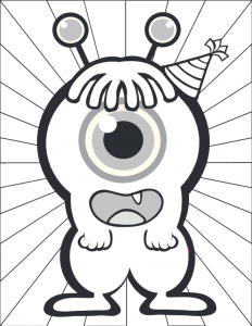One Eyed Monster Coloring Page