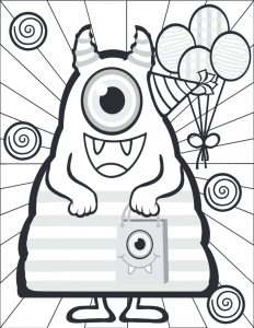 Large Monster Coloring Page
