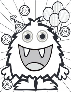 Small Monster Coloring Pages