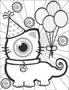 Cat Monster Coloring Pages