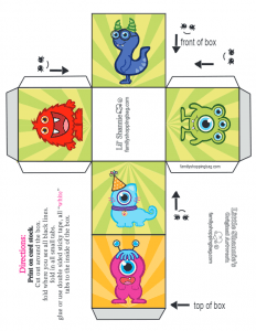 Monsters Party Small Favor Box