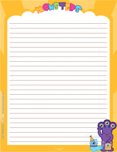 Monsters Party Stationery