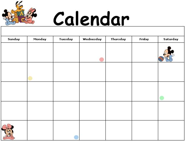 calendar disney planilha planilha semanal printable calendar ...