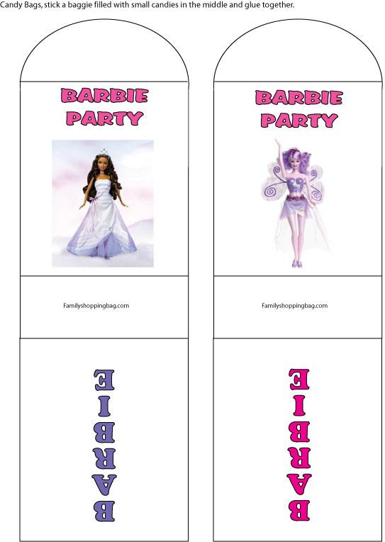 Barbie Candy Wrap Favor Box