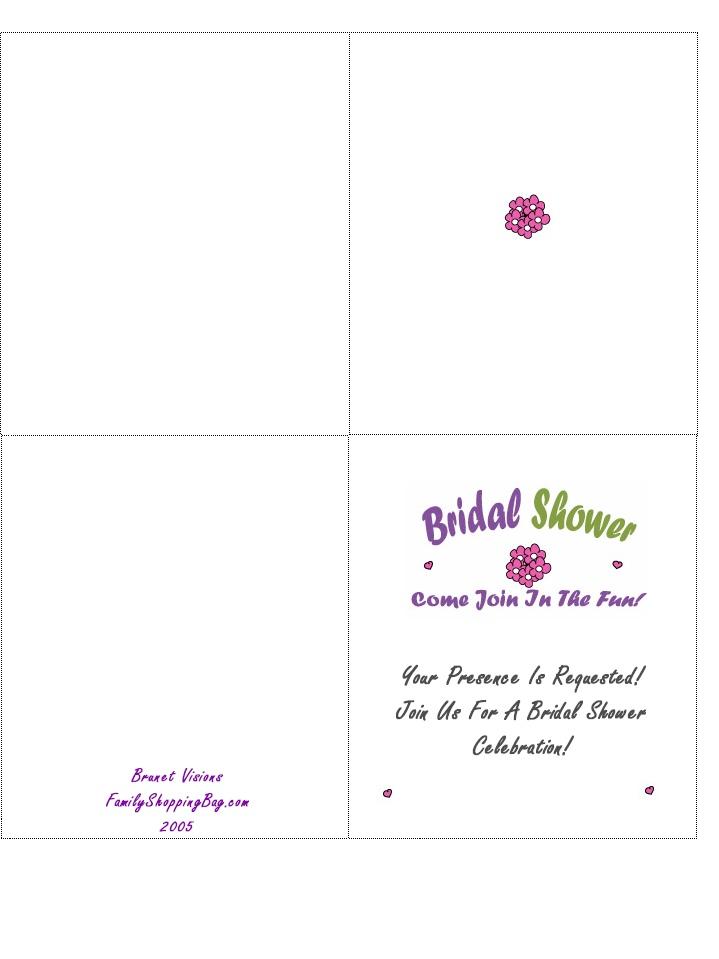 Bridal Shower Card Template. floral bridal shower template ...