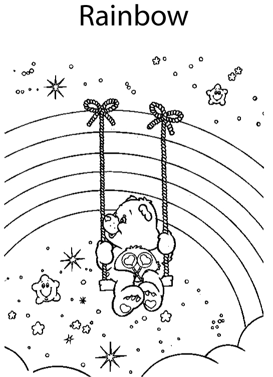care bear valentines coloring pages - photo#38