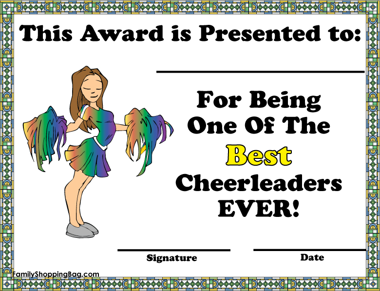 free coloring pages of cheerleading award