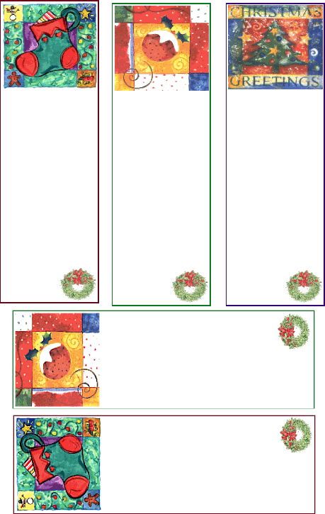 marcadores de livros de natal