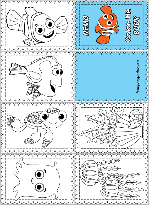 mini books coloring pages - photo#14