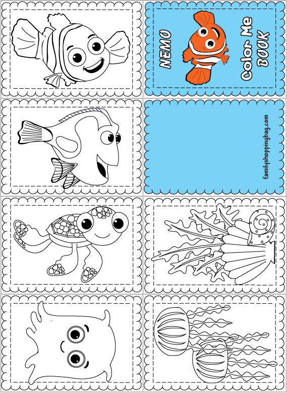 Livro para colorir do Nemo Atividades Educativas
