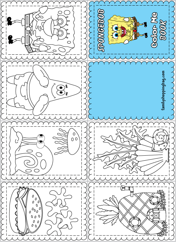 mini books coloring pages - photo#17