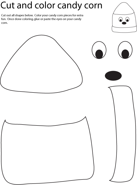 candy corn coloring pages - photo#21