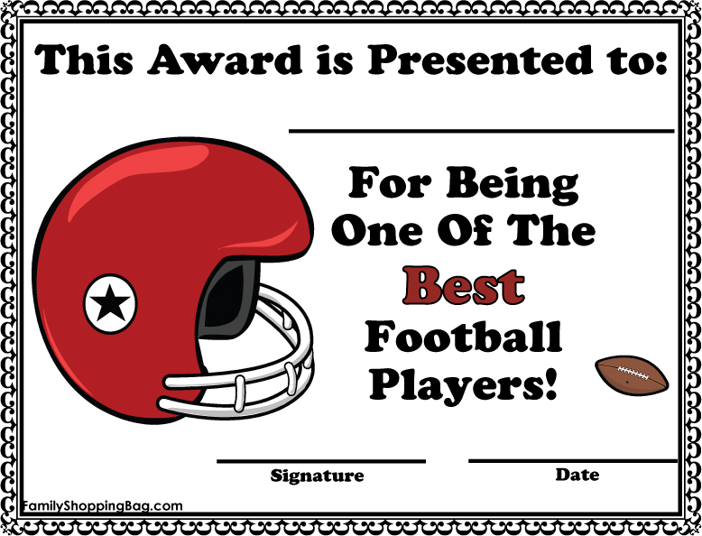 football certificate
